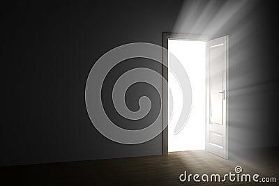 Light through an open door