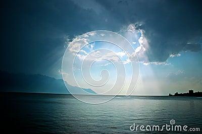 Light over Lac Leman