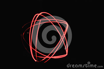 Light paint red star