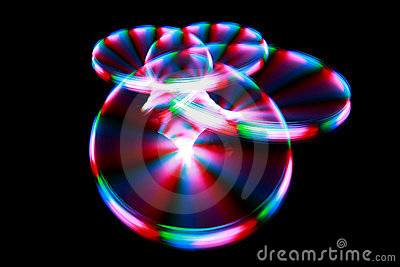 Light painting streaks during rotation
