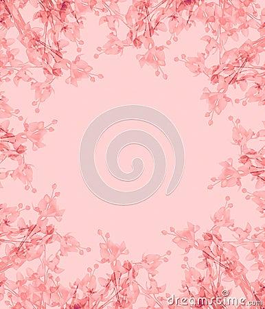 Light Pink Flowers Photo Frame