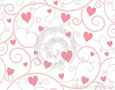 Light Pink Hearts Vine Background