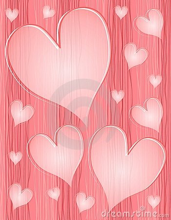 Light Pink Textured Opaque Hearts Pattern