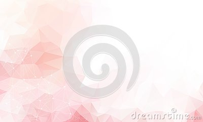 Light Pink vector background with dots and lines. Abstract illustration with colorful discs and triangles. Beautiful design for yo Vector Illustration