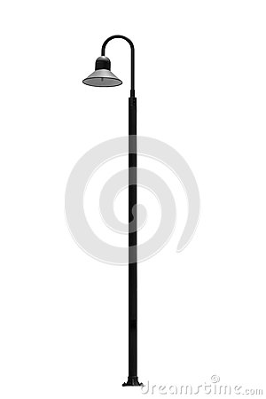 Light pole isolated