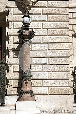 Light post in Paris
