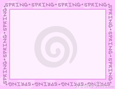 Light Purple Spring Frame or Border