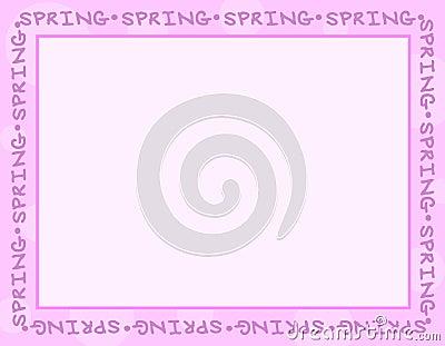 Light Purple Spring Frame or Border