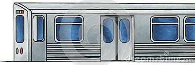 Light Rail Train 1 - No Background Stock Photo
