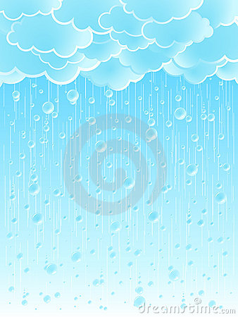Light raindrops weather background