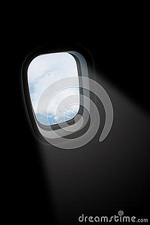 Light ray from aeroplane window