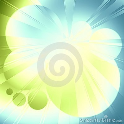 Light Rays Blue Green Glow