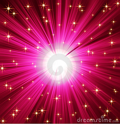 Light Rays Stars Background