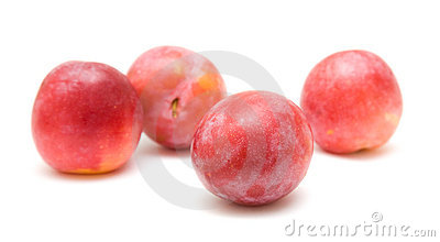Light red ripe large plums