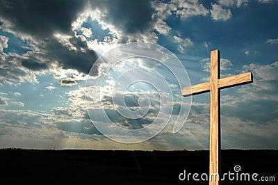 Light Shining On Cross Stock Images Image 2282164