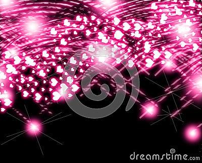 pink Heart Glow Valentine