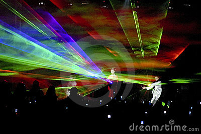 Light show during concert