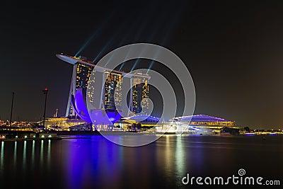 Light Show at Marina Bay Sands