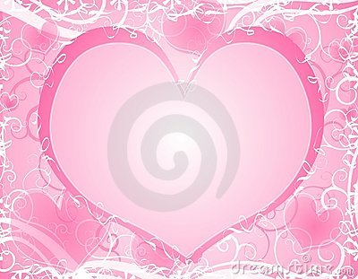 Light Soft Pink Heart Background Frame