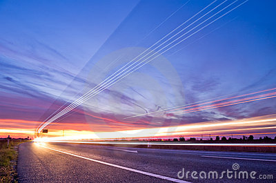 Light streaks traffic