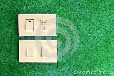 Light switch on green