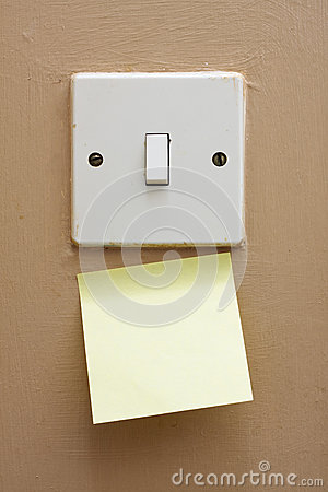 Light switch memo