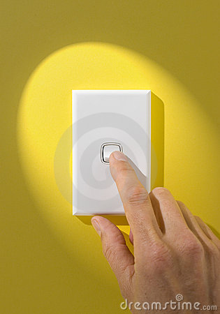 Free Light Switch On Off Hand Royalty Free Stock Image - 5932506