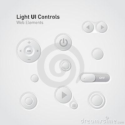 Light UI Controls Web Elements: Buttons, Switchers