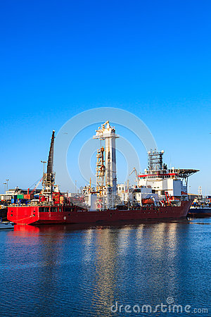 Free Light Well Intervention Boat (Mono Hull Vessel) Stock Photography - 74069542
