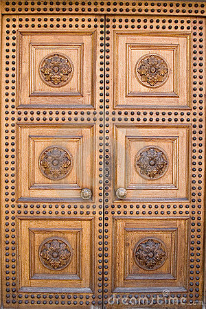Light wooden castle door