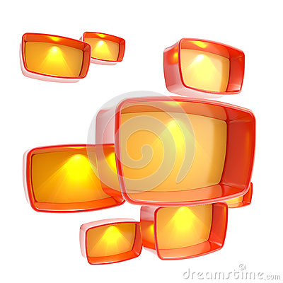 Lightboxes copyspace abstract background