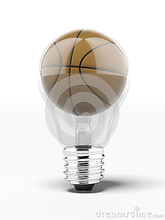 Lightbulb with basketball inside