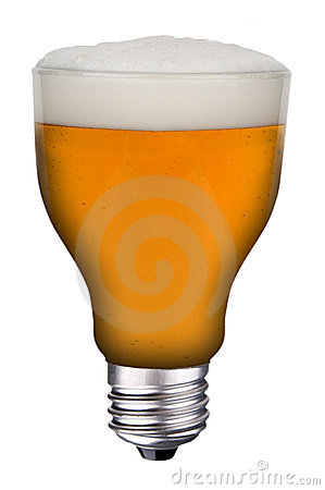 Lightbulb beer