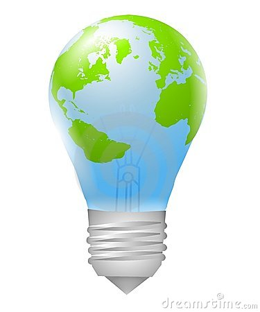 Lightbulb Earth Energy Source