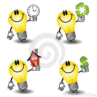 Free Lightbulb Energy Cartoons Royalty Free Stock Image - 4750216