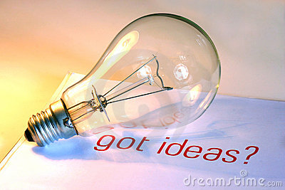 Lightbulb with got ideas