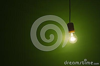 Lightbulb hanging