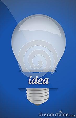 Lightbulb idea design over blue background