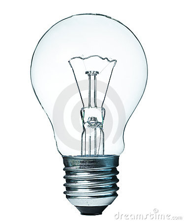 Lightbulb isolated on white