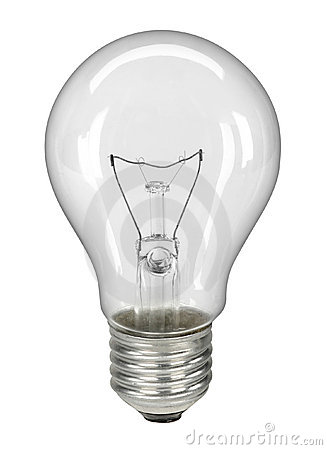 Lightbulb isolated on white - with clipping path