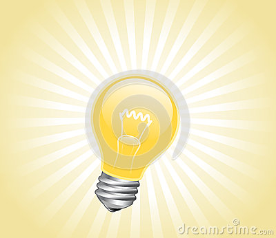 Lightbulb with light beams
