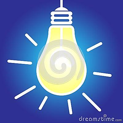 Lightbulb lit