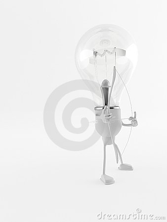 Lightbulb Man, Bow and Arrow