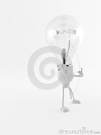 Lightbulb Man, Bow and Arrow