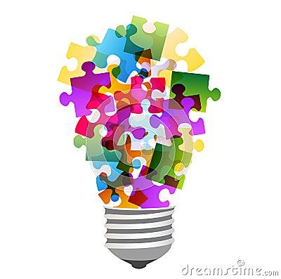 Lightbulb Puzzle Royalty Free Stock Image Image 23911376