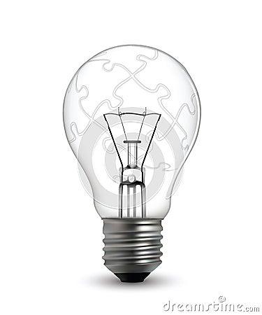 Lightbulb puzzle concept