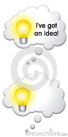 Lightbulb Thought Bubbles