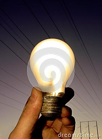 Free Lightbulb - Warm Light Royalty Free Stock Photos - 3946158