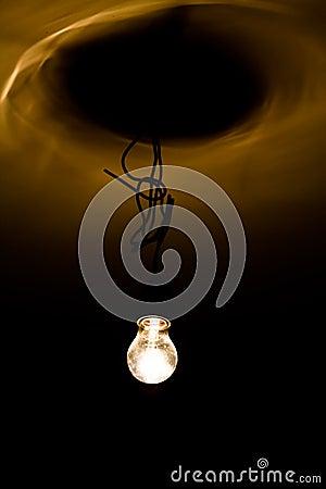 Lightbulb on wire