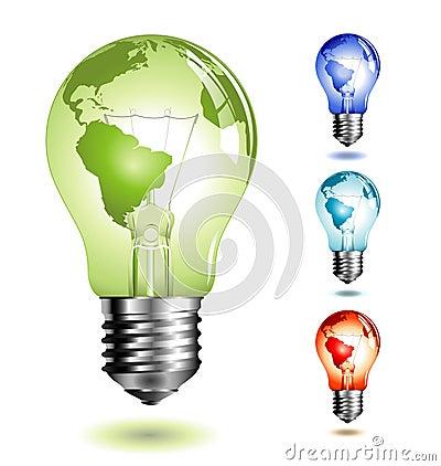 Free Lightbulb With Worldmap Royalty Free Stock Photo - 8308015
